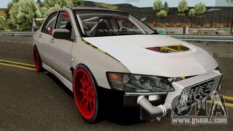 Mitsubishi Evo (DRIFT TUNING) for GTA San Andreas inner view