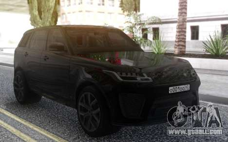 Land Rover Range Rover Sport SVR 2018 for GTA San Andreas