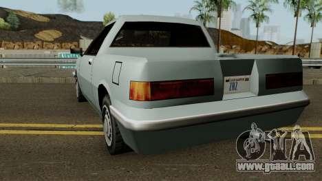 Manana Pickup for GTA San Andreas back left view