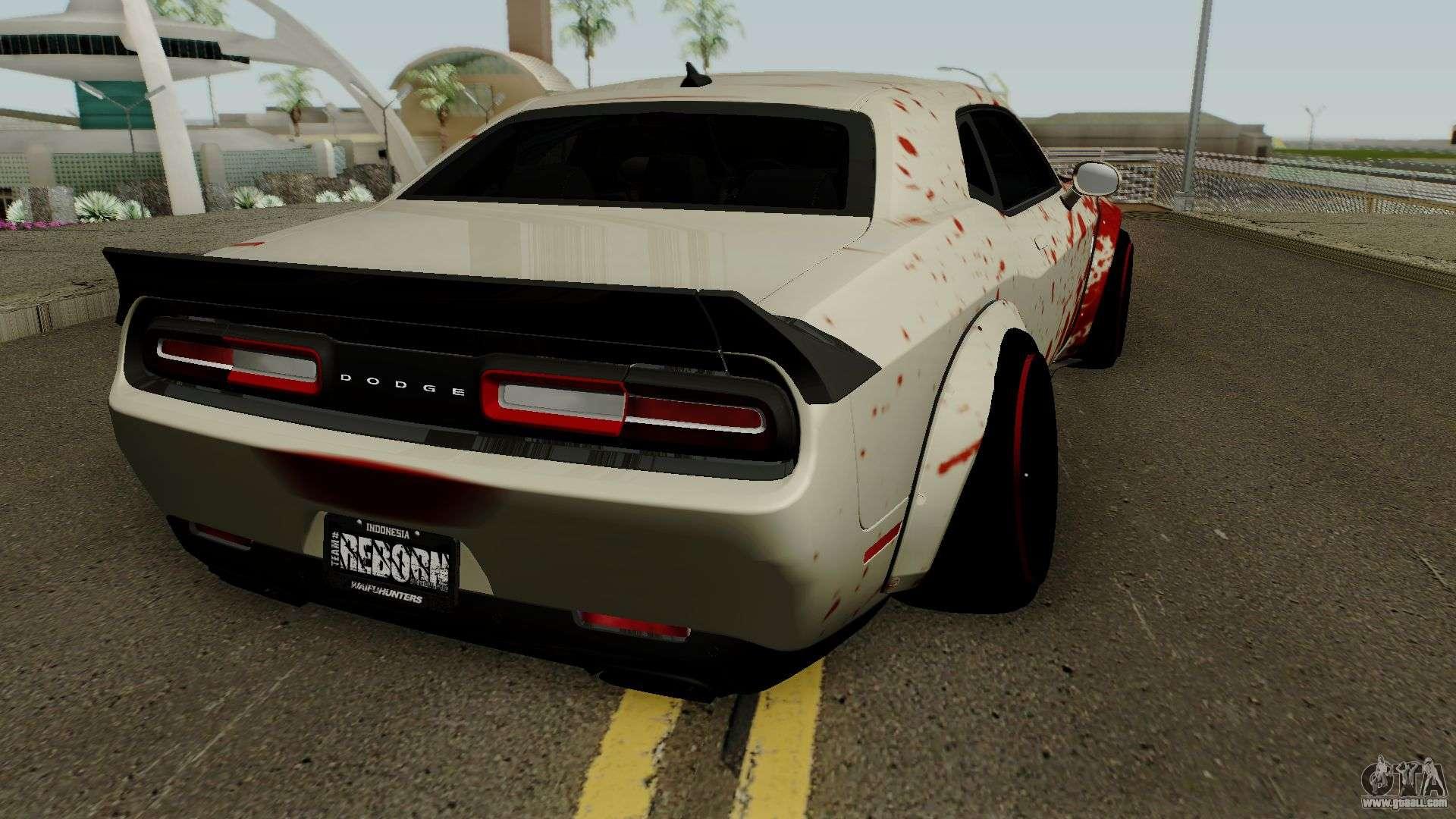 Dodge Hellcat Blood For Gta San Andreas