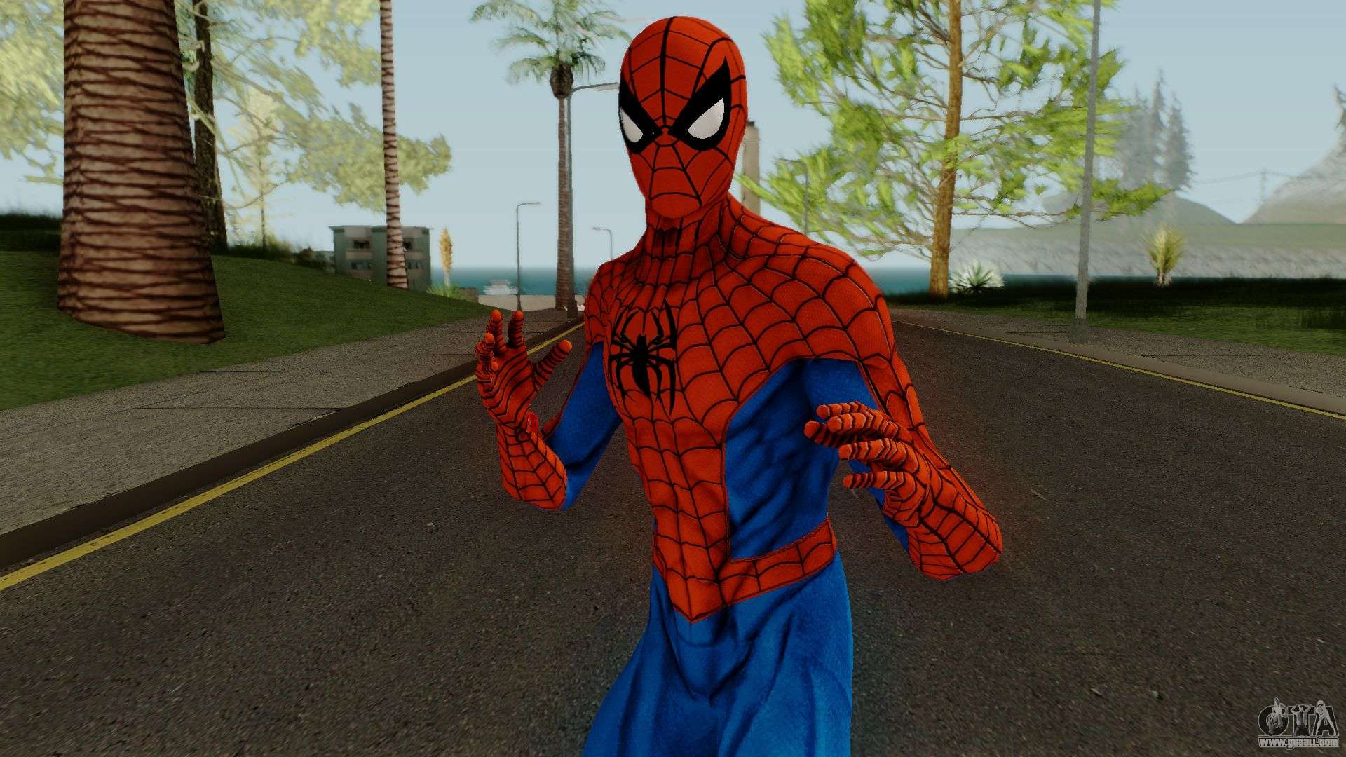 Spider-Man PS4 Classic Skin for GTA San Andreas