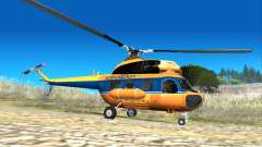 Soviet helicopter Mi-2 Aeroflot for GTA San Andreas