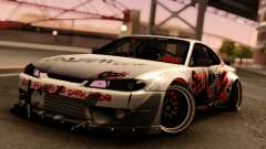 Nissan Silvia S15 Rocket Bunny Red for GTA San Andreas