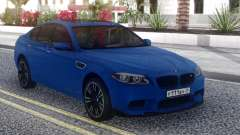 BMW M5 F10 Blue Sedan for GTA San Andreas