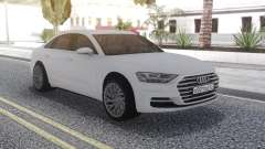 Audi A8 2018 White for GTA San Andreas