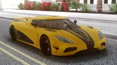 Koenigsegg Agera R Yellow for GTA San Andreas