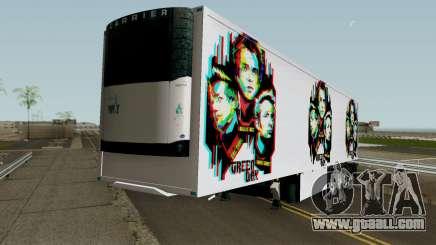 Remolque Green Day V.1 for GTA San Andreas