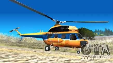Soviet helicopter Mi-2 Aeroflot for GTA San Andreas