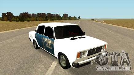 VAZ 2107 Hobo White for GTA San Andreas