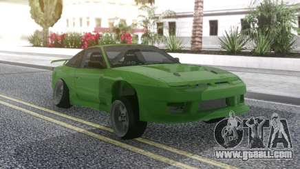 Nissan 180SX Green for GTA San Andreas