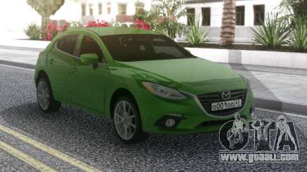 Mazda 3 Green for GTA San Andreas