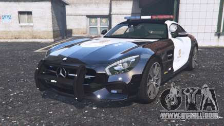 Mercedes-AMG GT coupe (C190) 2016 Police for GTA 5