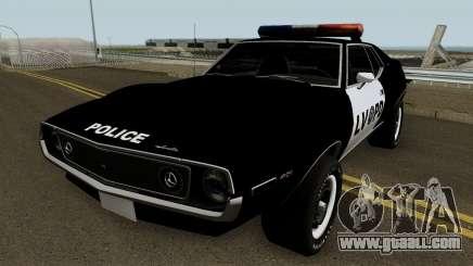 AMC Javelin AMX 401 Police LVPD 1971 V1 for GTA San Andreas