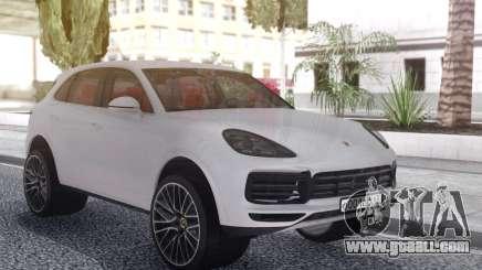 Porsche Cayenne Turbo White for GTA San Andreas