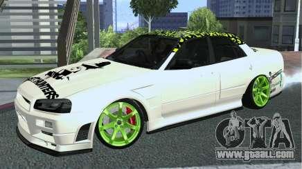 Nissan Skyline ER34 Custom for GTA San Andreas