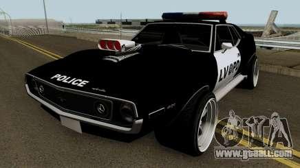 AMC Javelin AMX 401 Police LVPD 1971 V2 for GTA San Andreas