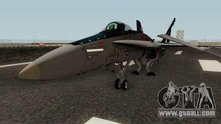 FA-18C Hornet VMFA-321 MG-00 for GTA San Andreas