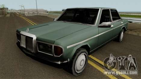 Admiral (Mercedes-Benz 280E Style) Low Poly for GTA San Andreas