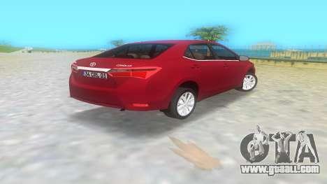 2014 Toyota Corolla for GTA Vice City