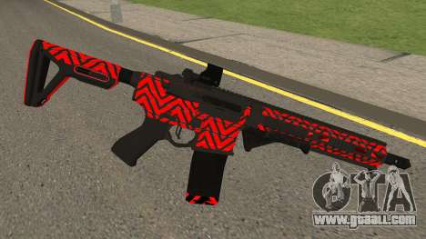 New Assault Rifle (Red) for GTA San Andreas second screenshot