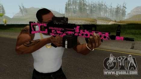 Gunrunning Combat MG MK.II GTA 5 Pink Skull for GTA San Andreas