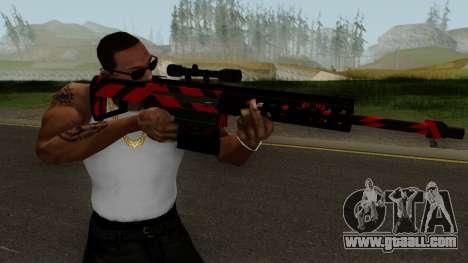 New Sniper Rifle (Red) for GTA San Andreas third screenshot