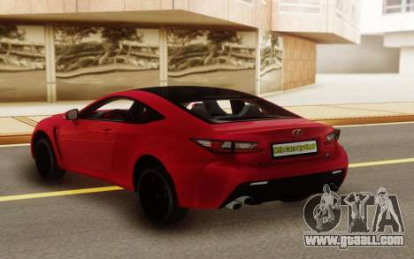 Lexus RC-F for GTA San Andreas