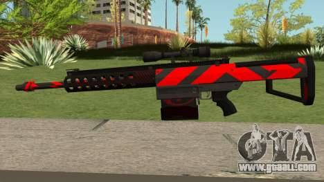 New Sniper Rifle (Red) for GTA San Andreas