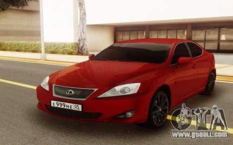 Lexus IS 250 V6 for GTA San Andreas