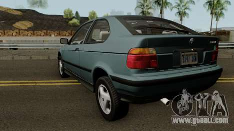 BMW 3-Series e36 Compact 318ti 1995 (US-Spec) for GTA San Andreas back left view