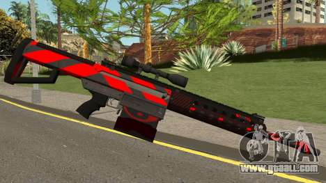 New Sniper Rifle (Red) for GTA San Andreas second screenshot