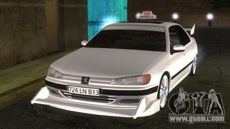 Peugeot 406 Taxi Marselle v2.5 for GTA San Andreas