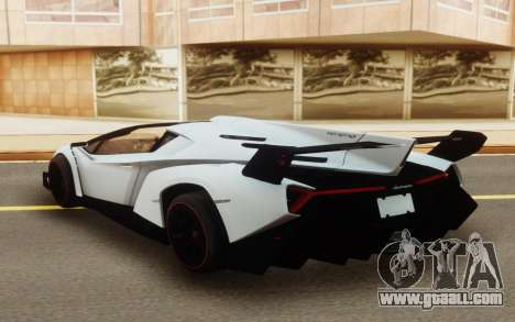 Lamborghini Veneno Roadster 2016 for GTA San Andreas