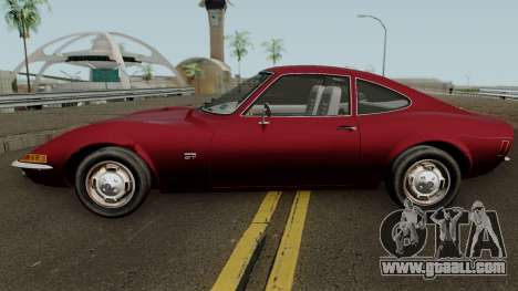 Opel GT 1900 1968 (US-Spec) for GTA San Andreas left view