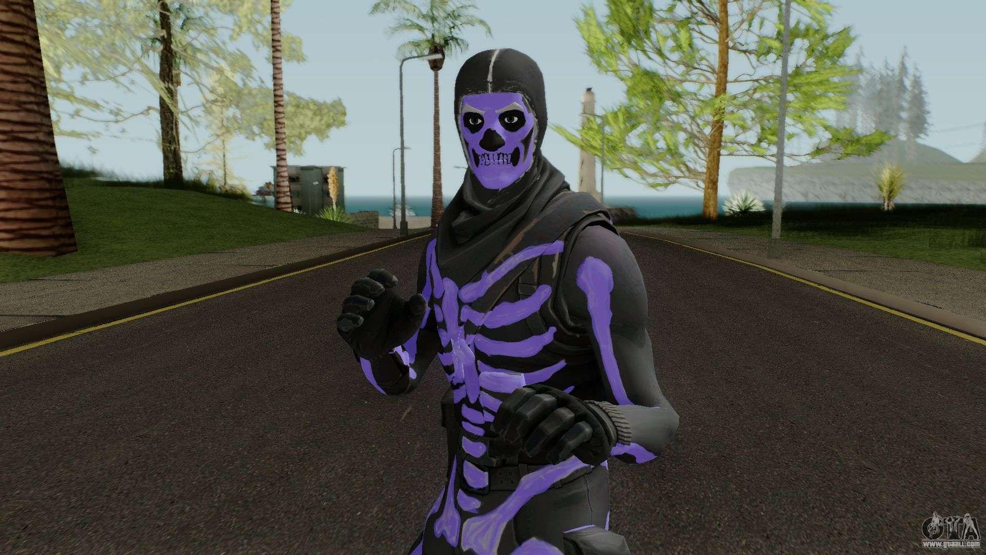 Purple Skull Trooper Style Fortnite For Gta San Andreas