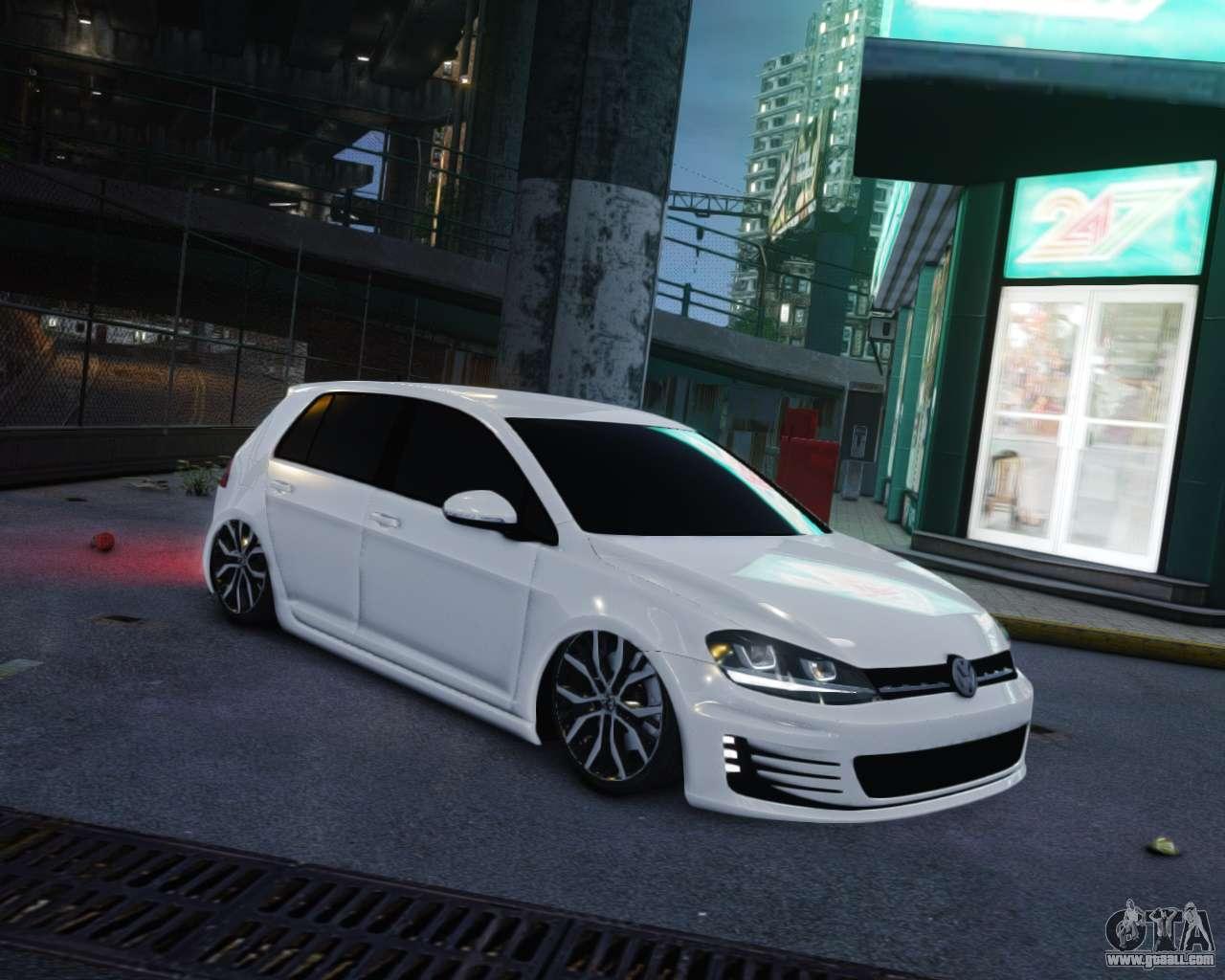 Volkswagen Golf White For Gta 4