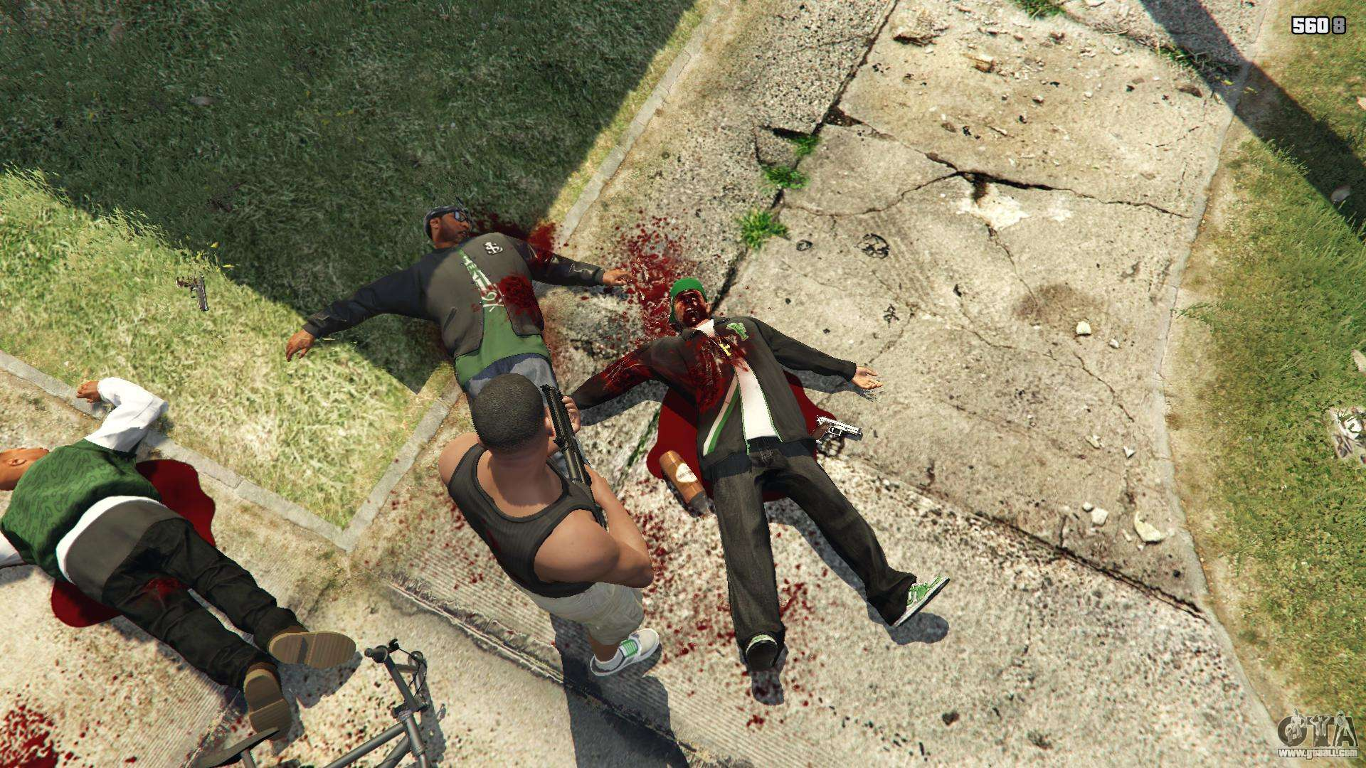 gta v blood and gore mod