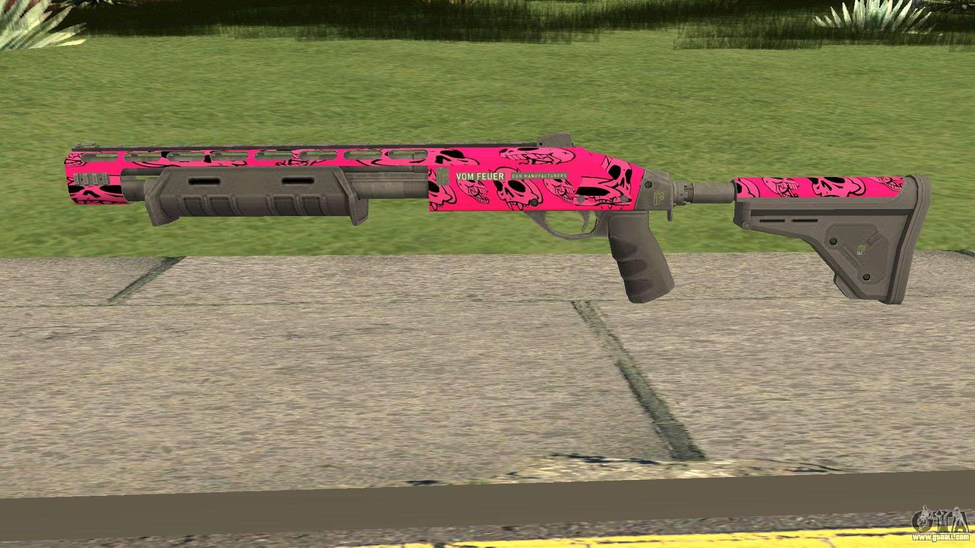 Rifle GTA V Online Pink Skull Livery for GTA San Andreas