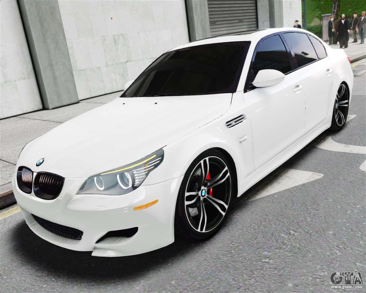 Bmw M5 E60 White Stock For Gta 4