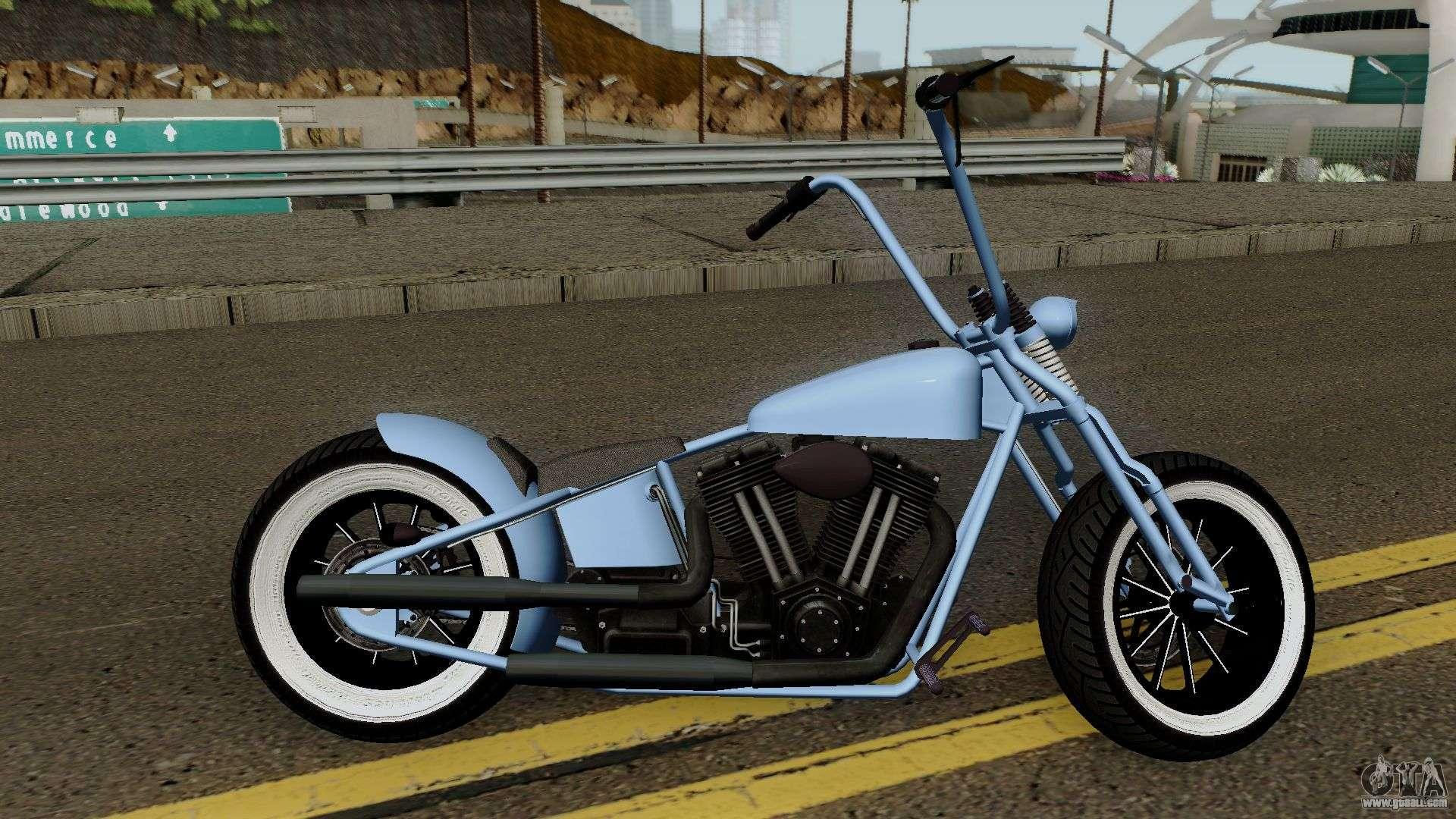 Western Motorcycle Zombie Bobber GTA V HQ for GTA San Andreas