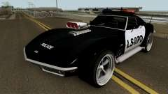 Chevrolet Corvette C3 Stingray Police LSPD V2 for GTA San Andreas