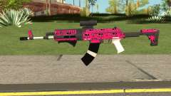 Gunrunning Assault Rifle Mk2 GTA V Pink Skull for GTA San Andreas