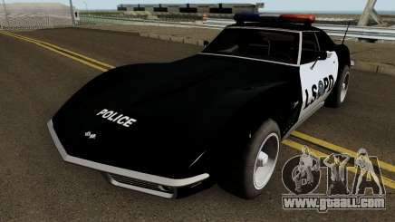 Chevrolet Corvette C3 Stingray Police LSPD for GTA San Andreas