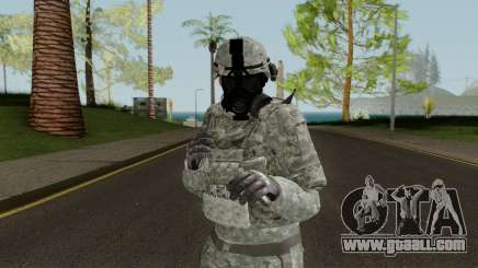 US Army ACU Skin (Gasmask) for GTA San Andreas