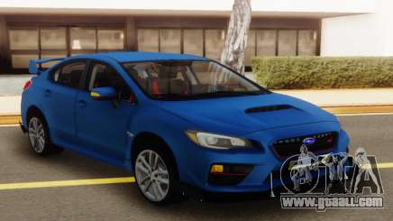 Subaru Impreza WRX STI Sedan Blue for GTA San Andreas