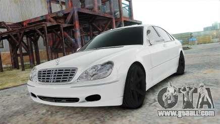 Mercedes-Benz S600 White for GTA 4