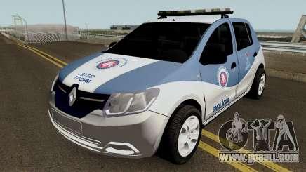 Renault Sandero 2017 PMBA CIPM for GTA San Andreas
