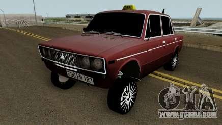 VAZ 2106 Drift Taxi Baku City for GTA San Andreas