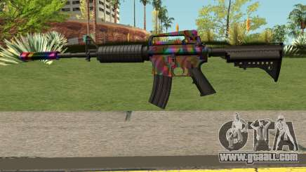 Rainbow M4 for GTA San Andreas