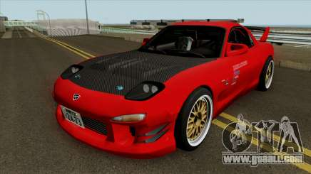 Mazda RX-7 FD3s Touge Warrior Red Brother for GTA San Andreas
